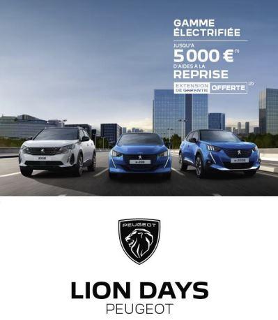 Profitez des LIONS DAYS chez Peugeot DG Automobiles